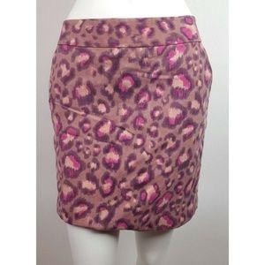 ANN TAYLOR LOFT Pink Animal Print Skirt Size 6